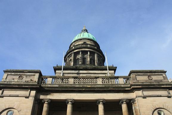 Historická stavba v Edinburghu
