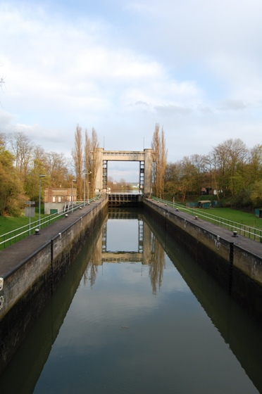 Řeka Muese v Maastrichtu
