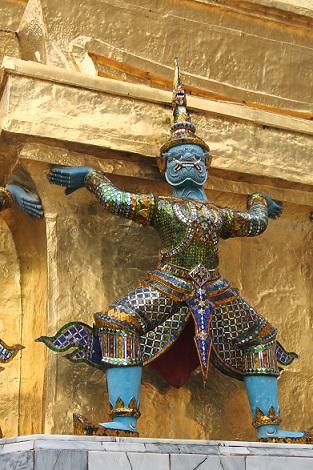 Obrázek z Velkého paláce v Bangkoku v Thajsku: Phra Borom Maha Ratcha Wang