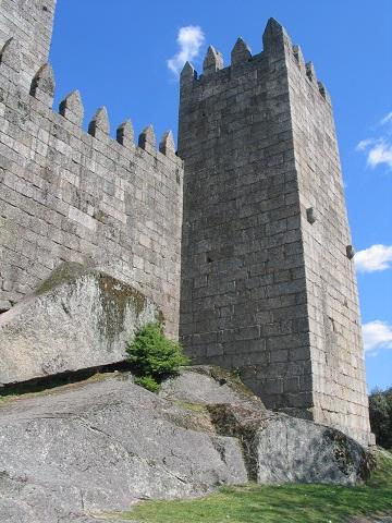 Hrad ve městě Guimaraes