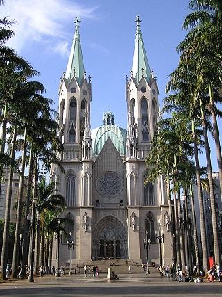 Catedral da Sé v Sao Paulu