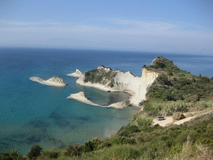 Mys Drastis na ostrově Korfu