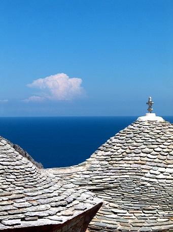 Pohled z ostrova Skiathos na moře