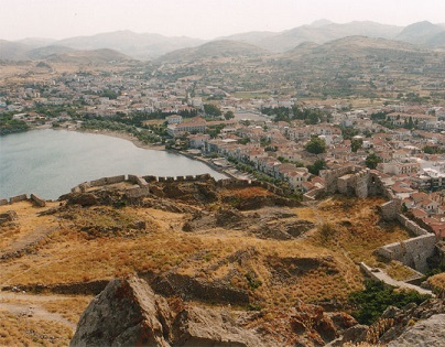 Limnos a hlavní město Myrina..