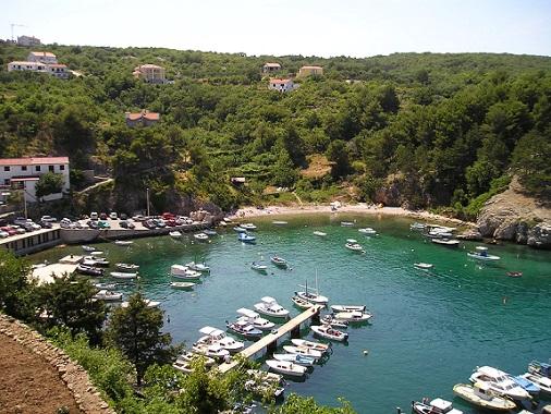 Malý přístav na Krku