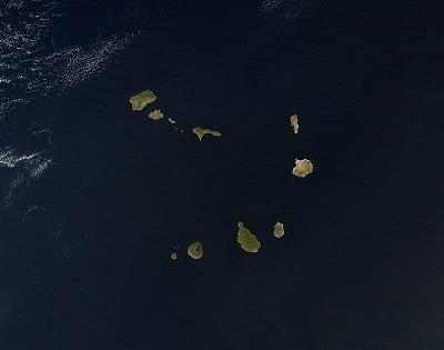 Satelitní pohled na Kapverdské soustroví...