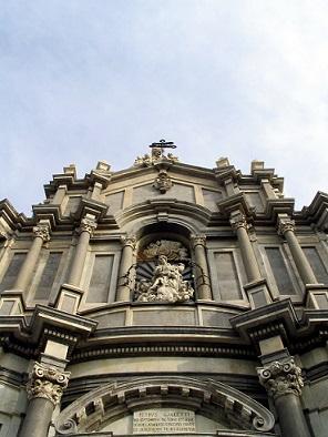 Barokní kostel v Catanii...