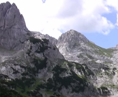 Národní park Durmitor v Černé Hoře...
