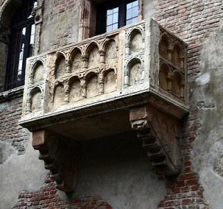Známý balkón ve Veroně...
